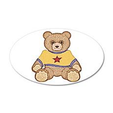 Teddy Bear 22x14 Oval Wall Peel