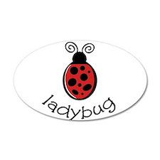 Ladybug 22x14 Oval Wall Peel