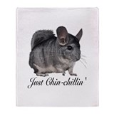 Just ChinChillin' Throw Blanket