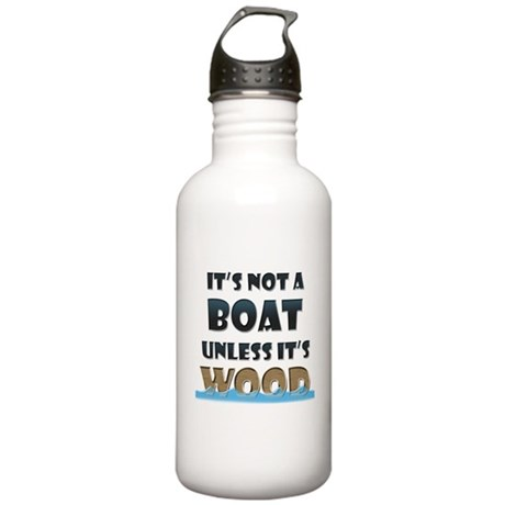 Wood Boat Stainless Water Bottle 1.0L