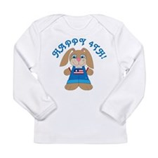 Happy 4th Of July Bunny Long Sleeve Infant T-Shirt