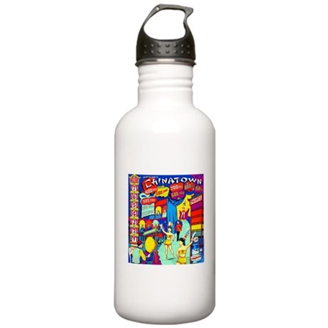 Gottlieb&reg; &quot;Chinatown&quot; Stainless Water Bottle 1