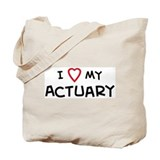 I Love Actuary Tote Bag