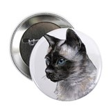 "2.25"" Button (10 pack) Siamese Cat Portrait"