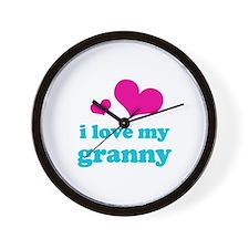 I Love My Granny Wall Clock