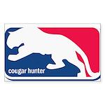 Cougar Hunter Sticker (Rectangle)