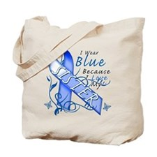 I Wear Blue Because I Love My Sister Tote Bag