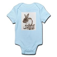Infant Creeper with Bunny Rabbit