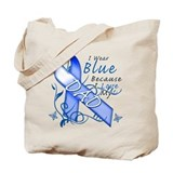 I Wear Blue Because I Love My Dad Tote Bag