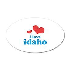 I Love Idaho 38.5 x 24.5 Oval Wall Peel