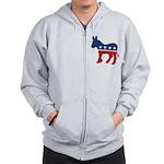 Democrat Donkey Logo Zip Hoodie