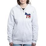 Democrat Donkey Logo Women's Zip Hoodie
