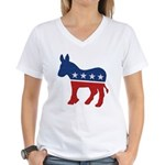 Democrat Donkey Logo Women's V-Neck T-Shirt