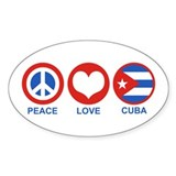 Peace Love Cuba Decal