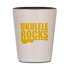 ukulele rocks Shot Glass
