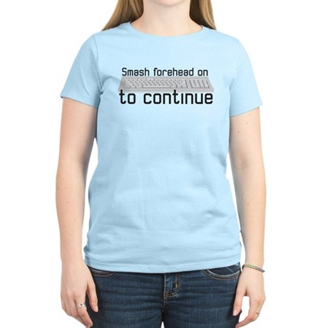 smash forehead on keyboard Women's Light T-Shirt