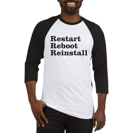 restart reboot reinstall Baseball Jersey