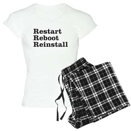 restart reboot reinstall Women's Light Pajamas