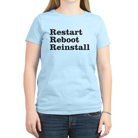 restart reboot reinstall Women's Light T-Shirt