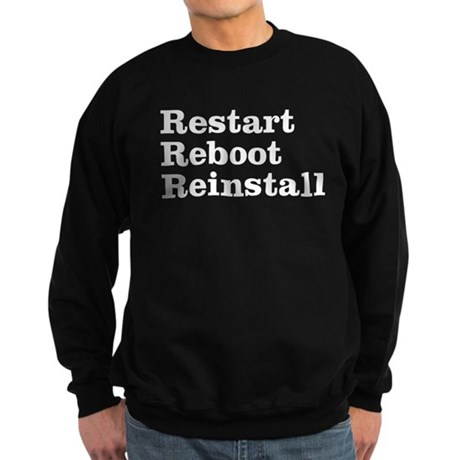 restart reboot reinstall Sweatshirt (dark)