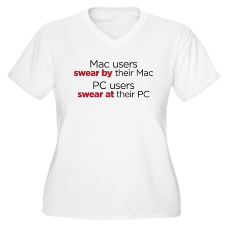 MAc Users / PC Users Women's Plus Size V-Neck T-Sh