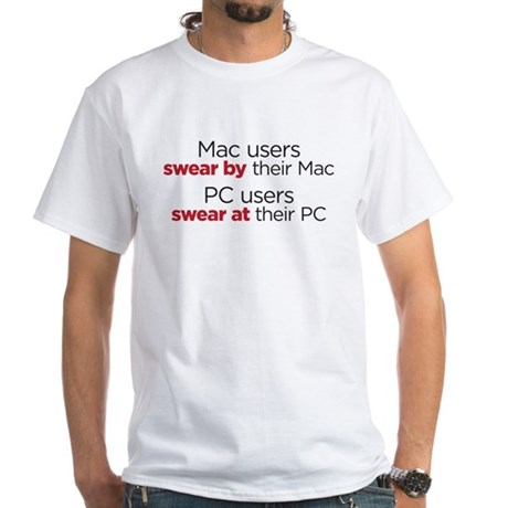 MAc Users / PC Users White T-Shirt