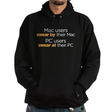 MAc Users / PC Users Hoodie (dark)