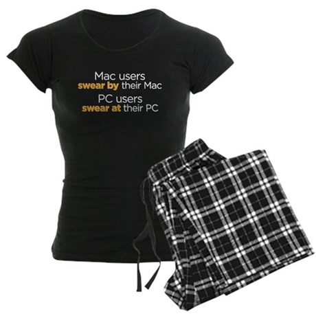 MAc Users / PC Users Women's Dark Pajamas