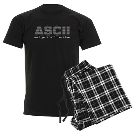 ASCII and ye shall receive Men's Dark Pajamas
