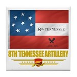 8th Tennessee Artillery Tile Coaster