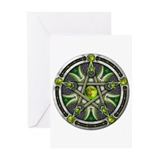 Pentacle of the Green Moon Greeting Card