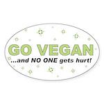 Go Vegan Oval Sticker