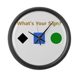 What's Your Sign? Large Wall Clock