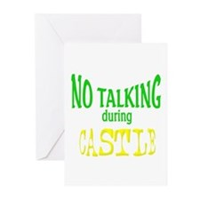 No Talking During Castle Greeting Cards (Pk of 10)