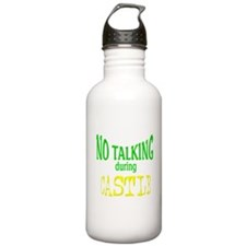 No Talking During Castle Stainless Water Bottle 1.