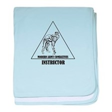Modern Army Combatives Instructor baby blanket