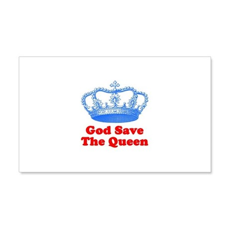 God Save The Queen 22x14 Wall Peel