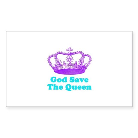 God Save The Queen Sticker (Rectangle)