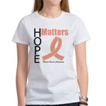 Uterine Cancer HopeMatters Women's T-Shirt