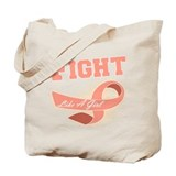 Uterine Cancer Sporty Fight Tote Bag
