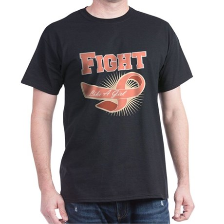 Uterine Cancer Sporty Fight Dark T-Shirt