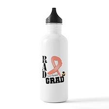Uterine Cancer RAD Grad Sports Water Bottle