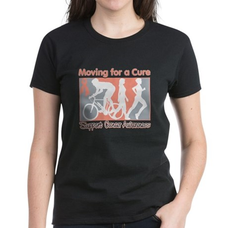 Uterine Cancer MovingForACure Women's Dark T-Shirt