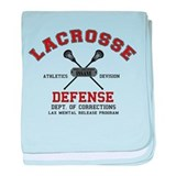 Lacrosse Defense baby blanket