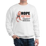 Uterine Cancer Hope Matters Sweatshirt