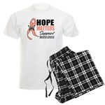 Uterine Cancer Hope Matters Men's Light Pajamas