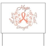 Uterine Cancer Hope Deco Yard Sign