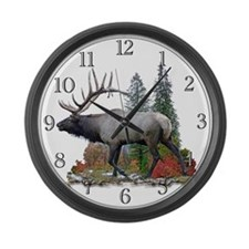 Bull Elk Large Wall Clock