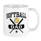 Softball Dad Small Mugs
