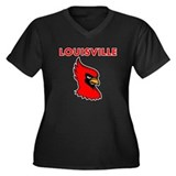 Louisville Bird Women's Plus Size V-Neck Dark T-Sh